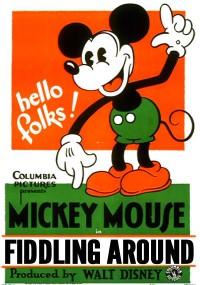 """Fiddling Around"" mickey mouse cartoon"