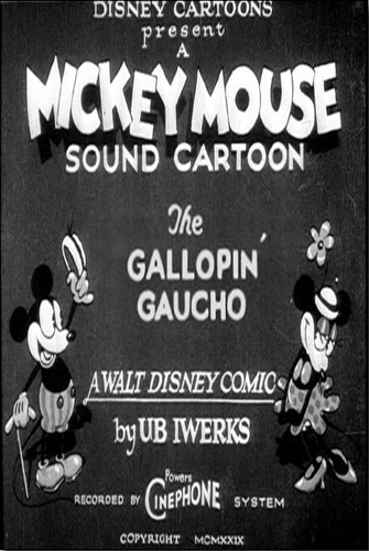 The Gallopin' Gaucho The Gallopin Gaucho Mickey Mouse Cartoon MickeyMouseCartooncom